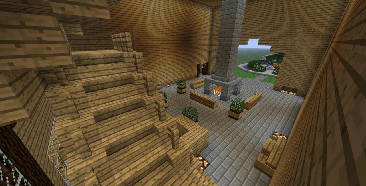 Minecraft wooden estate minecraft project for Minecraft foyer ideas