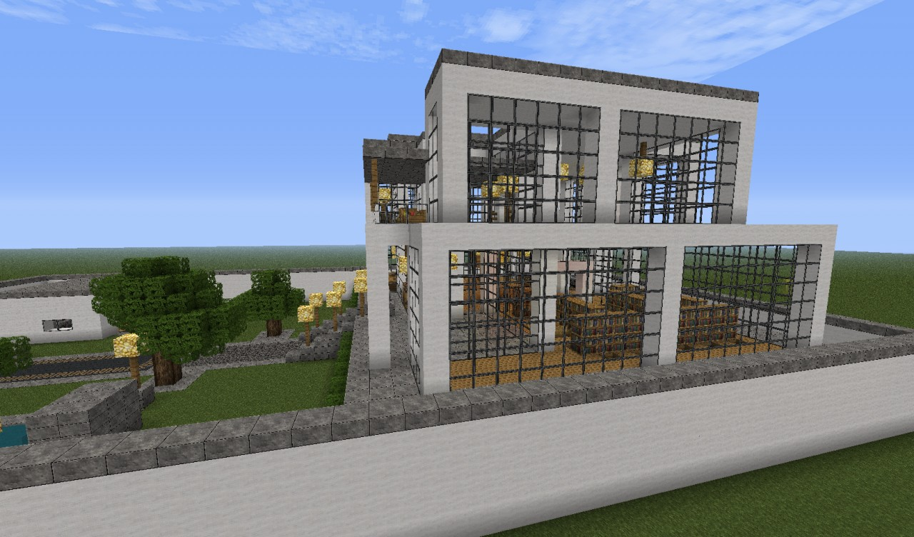 Modern home minecraft project for Modern house projects