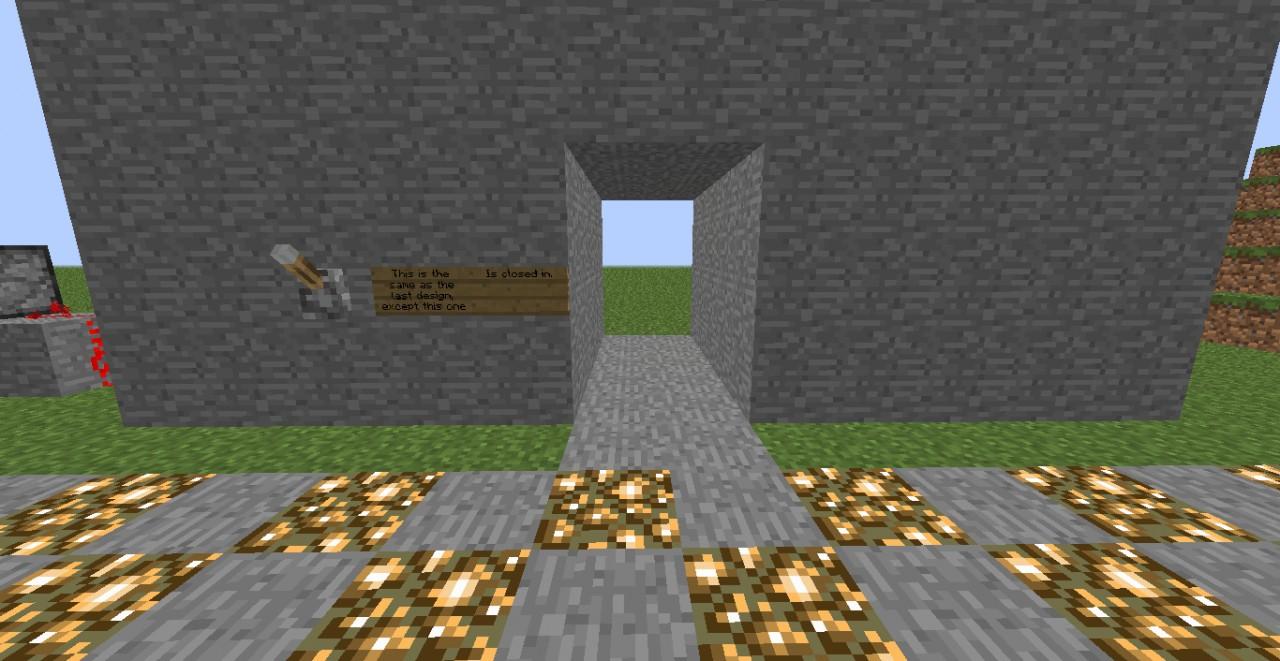 Piston Door 3x2 3x2 Door Minecraft Project