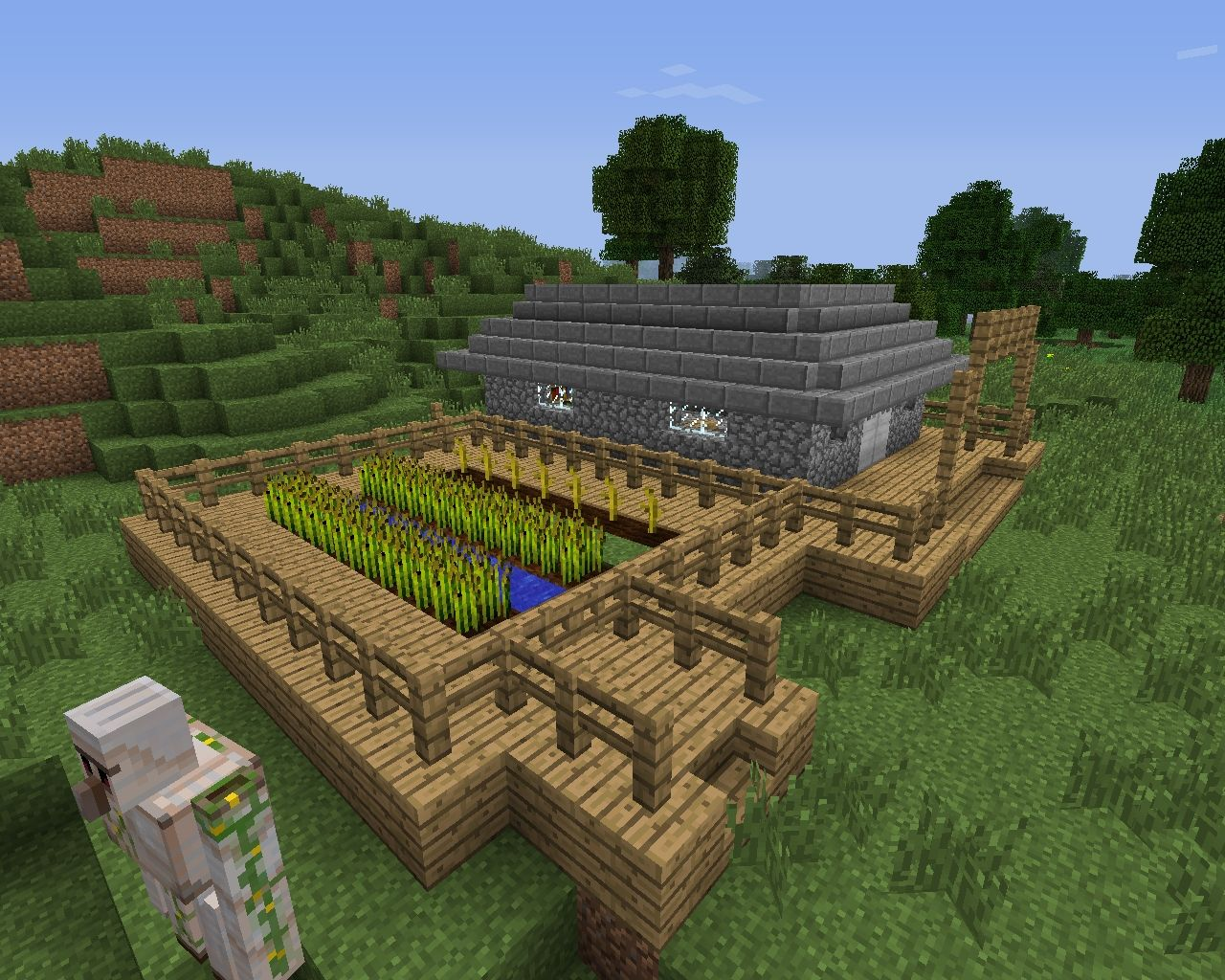 Zombie Proof Cabin ~ Zombie proof hunter s cabin minecraft project