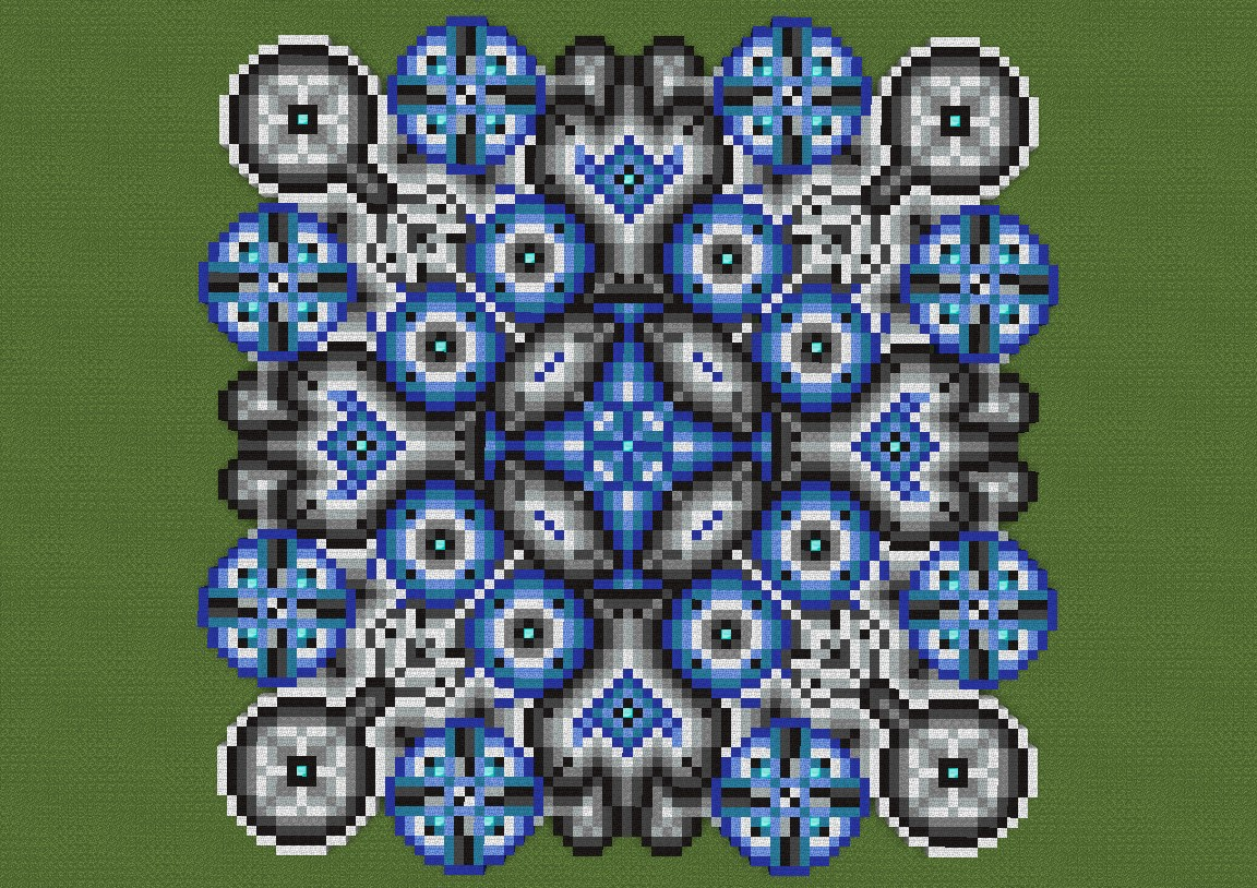 Radiance of circles minecraft project for Minecraft floor designs