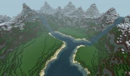 Custom landscape ( with download ) Minecraft Map & Project