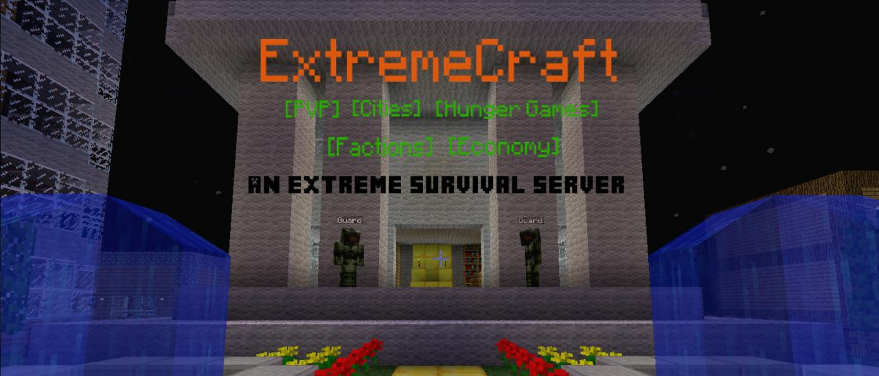 One of the many beginning screens on ExtremeCraft