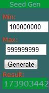 MineCraft Seed Gen Minecraft