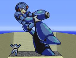 MEGAMAN!!! Old School vs. New School! (I want a cannon for a hand!) Minecraft Map & Project