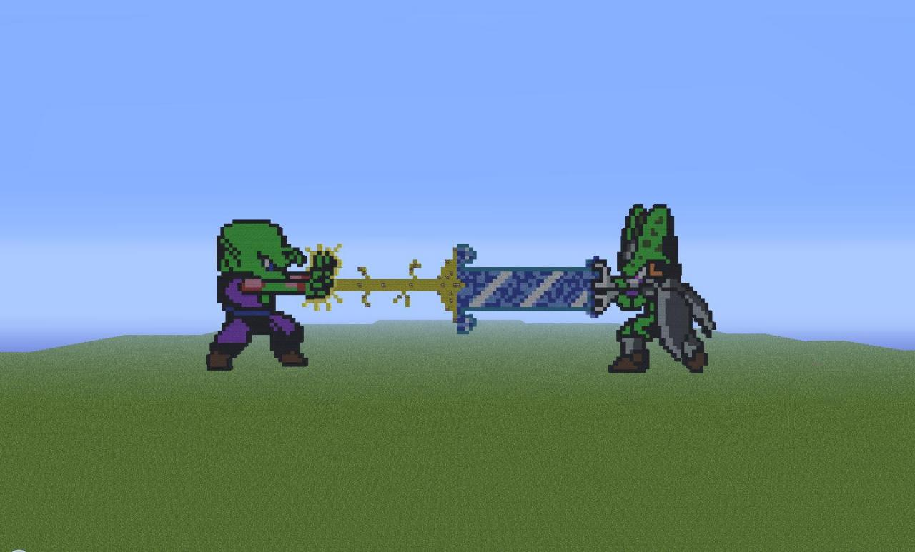 Beam Struggle piccolo and p. cell beam struggle. minecraft map