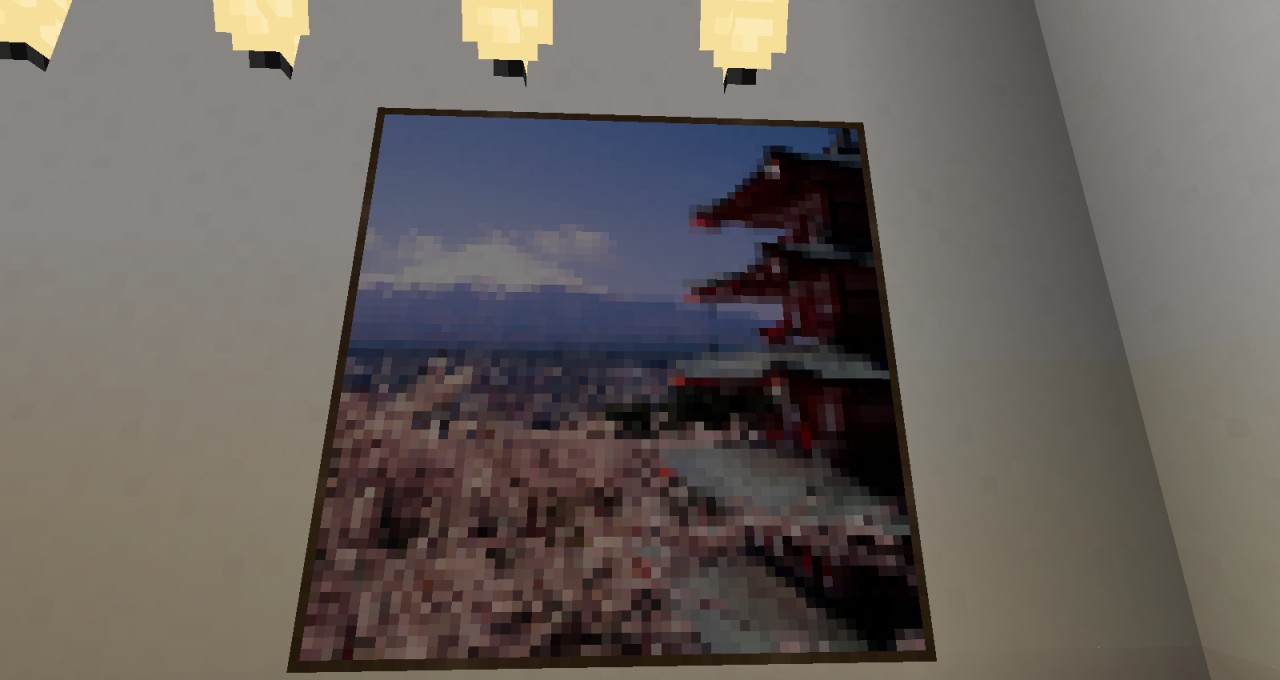 Picture/Painting behind Japanese spacing wall(its by the bed)