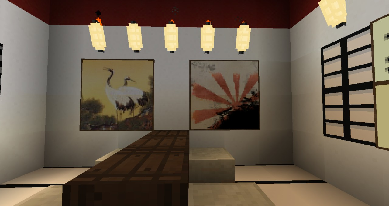Picture/Painting on wall by the Japanese table