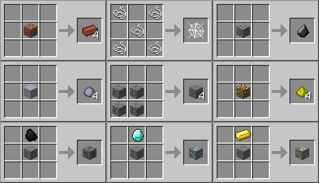 Minecraft Stone Brick Crafting Recipe