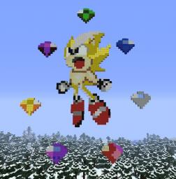Super Sonic and the Chaos Emeralds (Sonic X, etc.) Minecraft Project