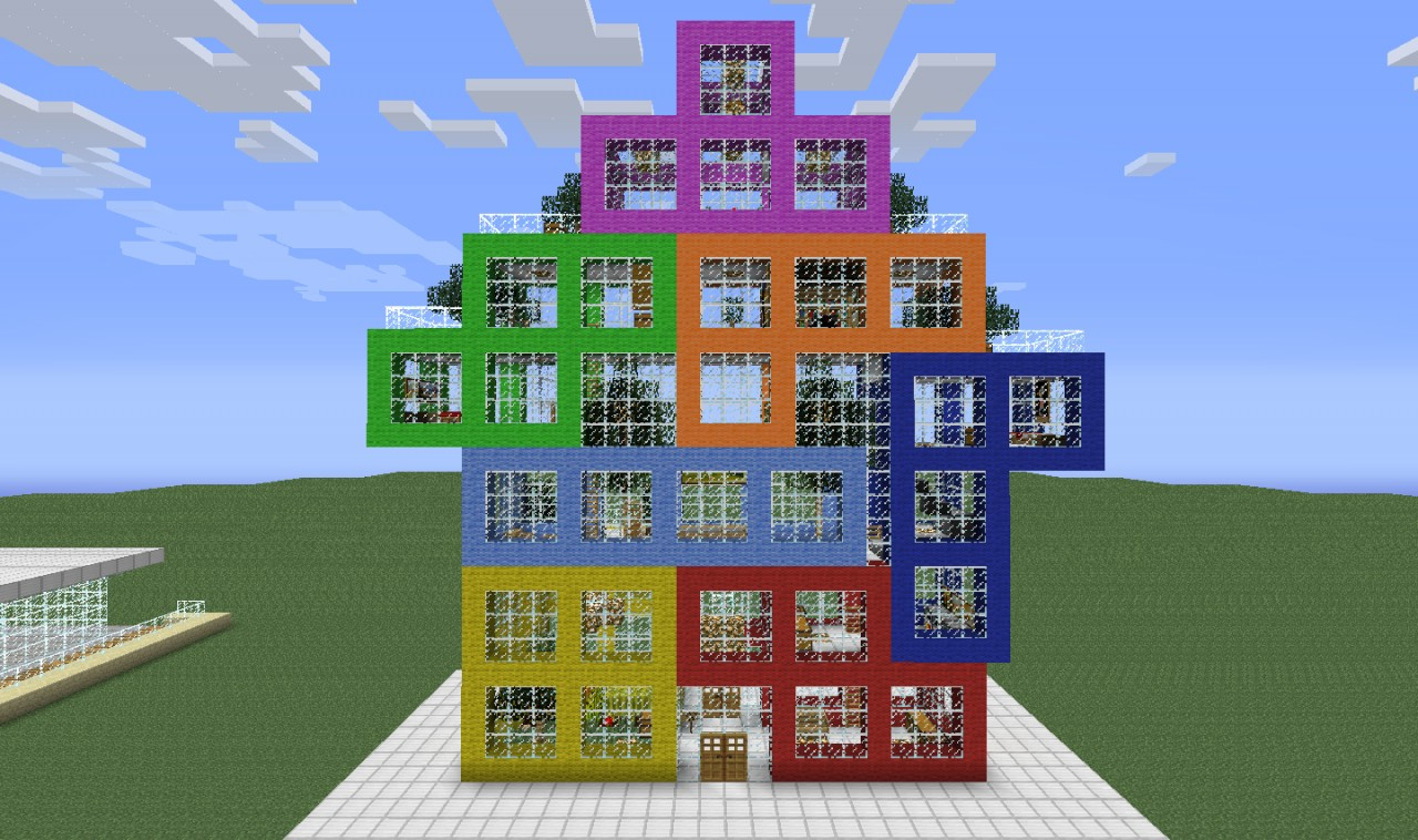 I Love Tetris Furnished And Playable House Minecraft Project