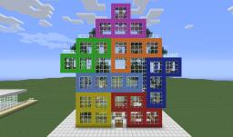 i love tetris: furnished and playable house Minecraft Map & Project