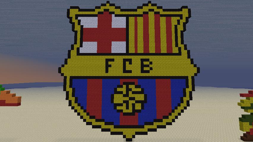 fc barcelona logo minecraft project