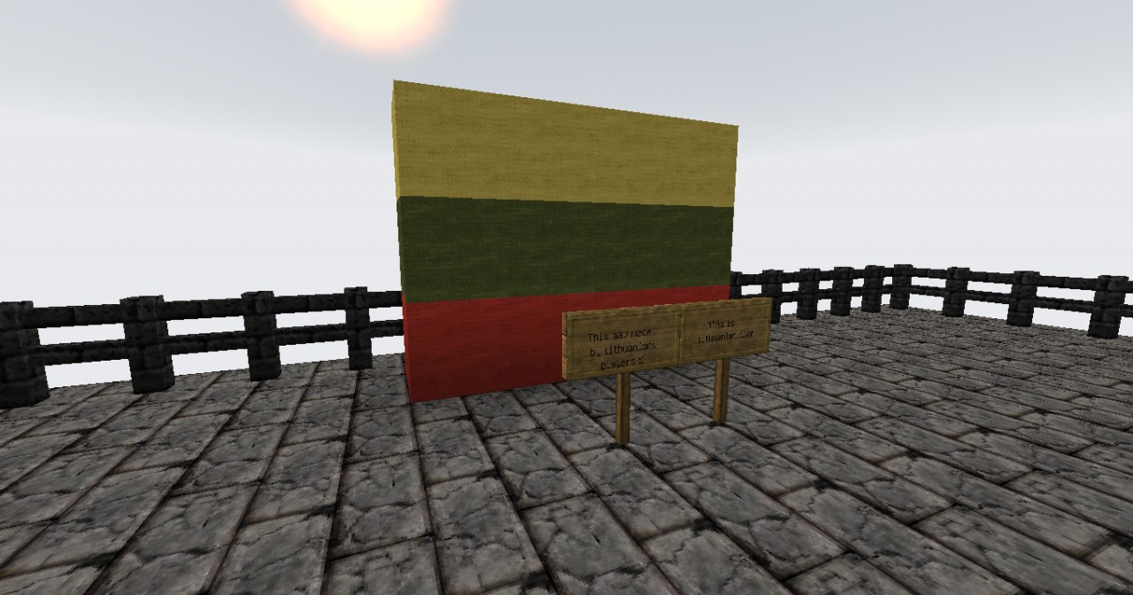 Lithuanians flag (This map made by Lithuanians)