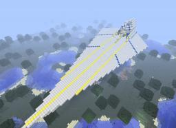 Giant Space ship!(Equipped with Bomber bay, and lava lazer)[Give us Ides, or consult us about bugs] Minecraft Map & Project