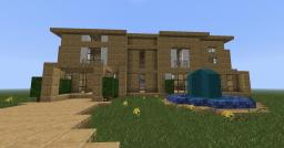 Bee Builds. Sandstone Modern House. Minecraft Map & Project