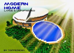 Modern Home (Large & Unfurnished) Minecraft Map & Project