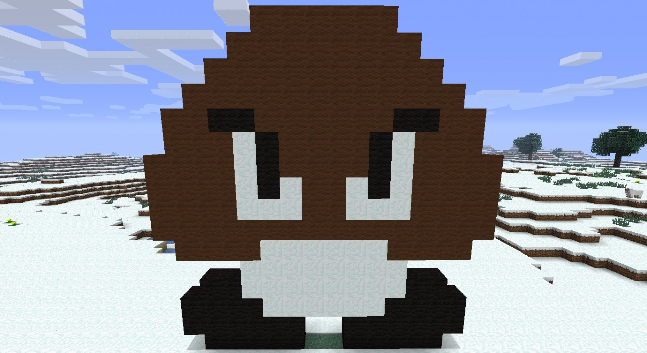 how to build a goomba in minecraft