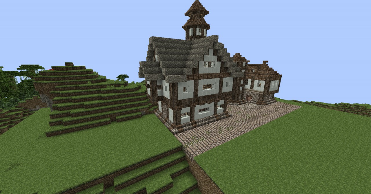 Minecraft Large Medieval House Minecraft Project