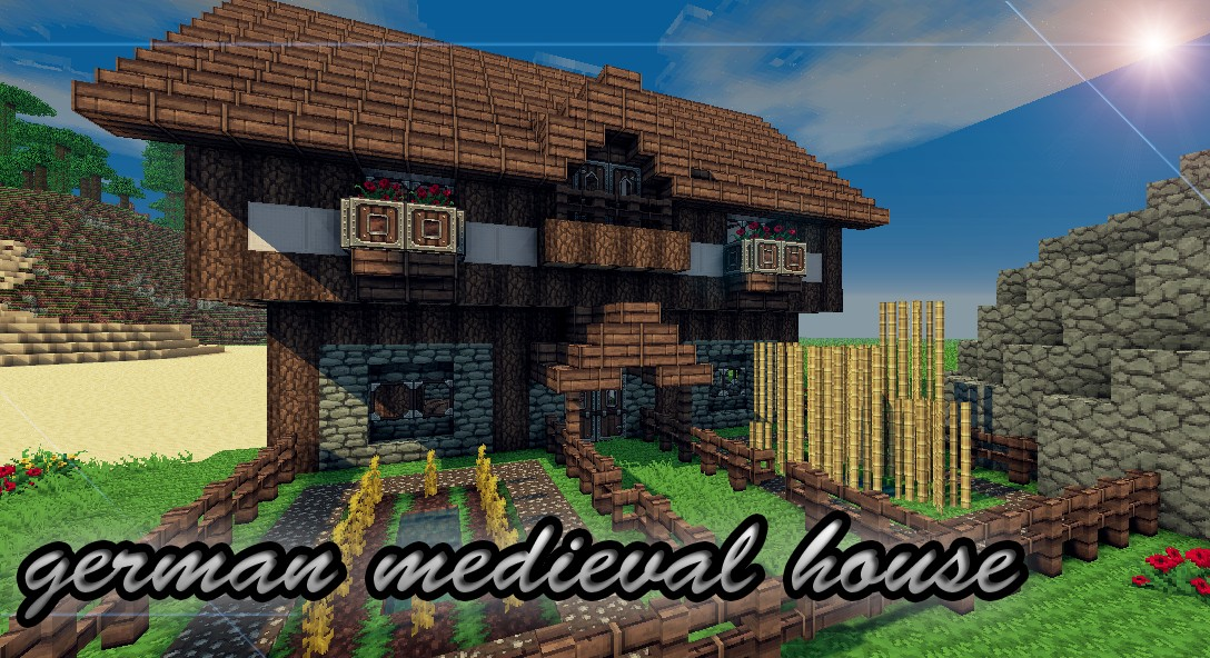 old german medieval house minecraft project