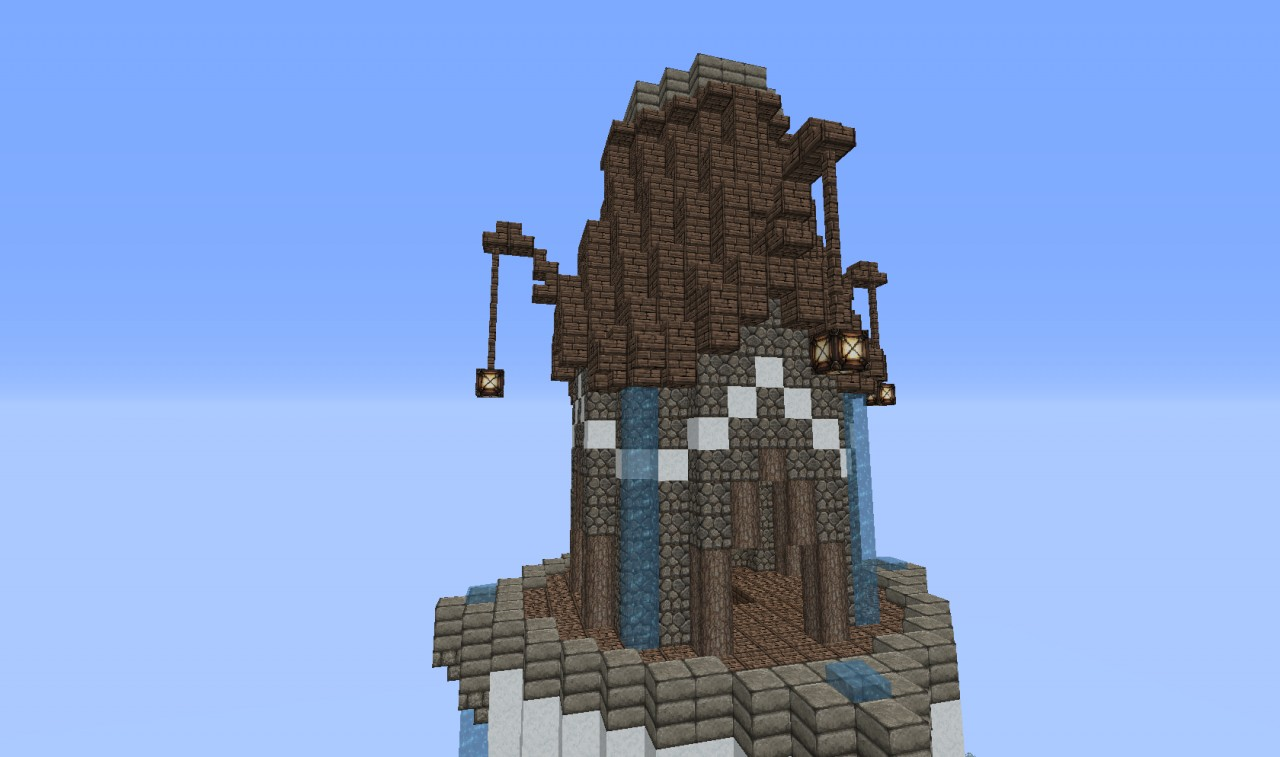 how to build a spiral staircase in minecraft