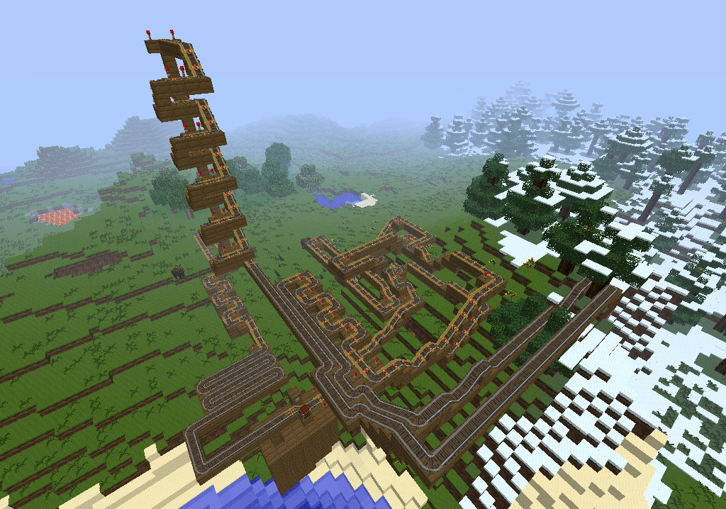 The Spinner Roller Coaster Minecraft Project