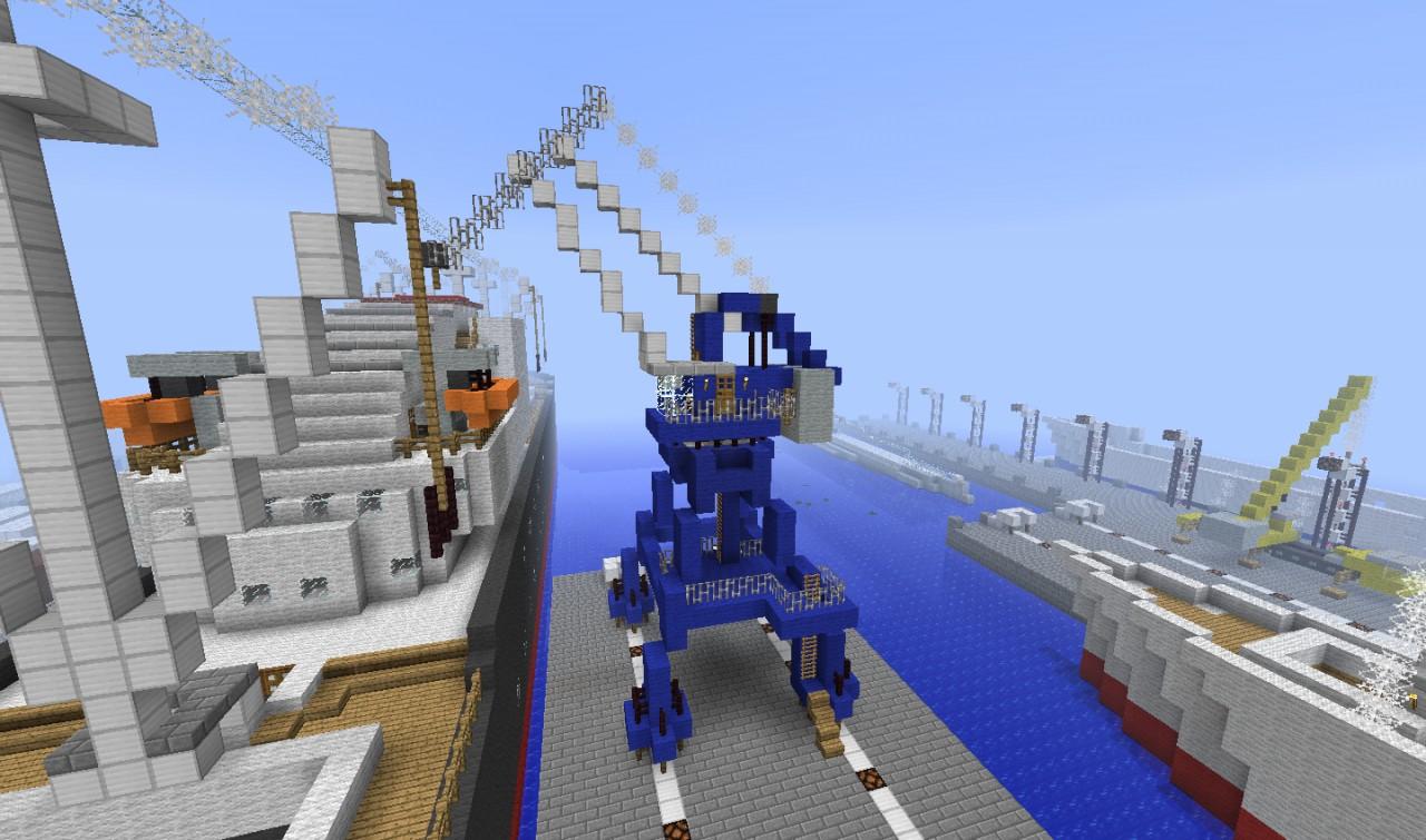 Hafen Kran Minecraft Project