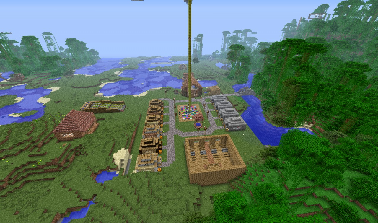 Small village town 24 7 server minecraft project for Village town