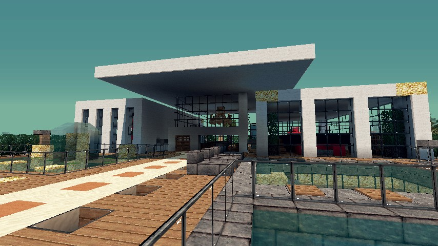 Modern Resort House Minecraft Project