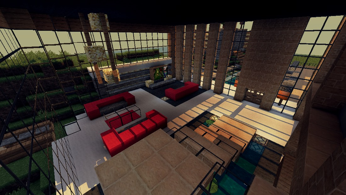 Minecraft Modern House Interior