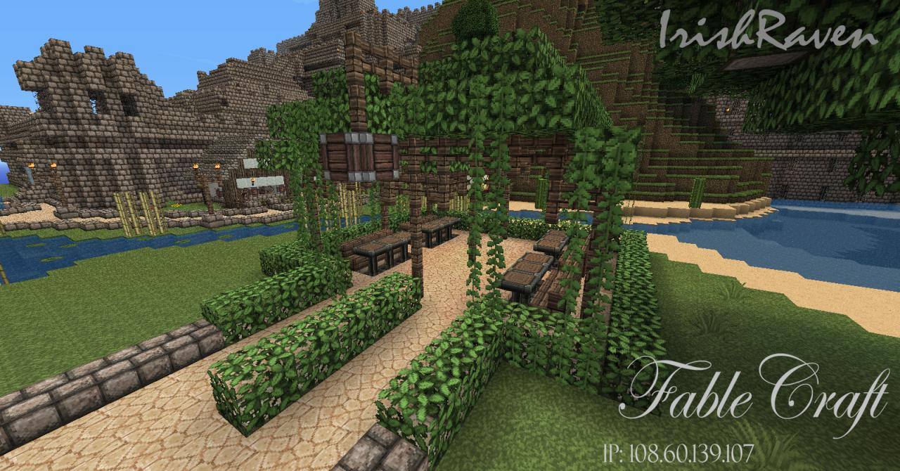 Fabledcraft new spawn minecraft project for Garden designs minecraft