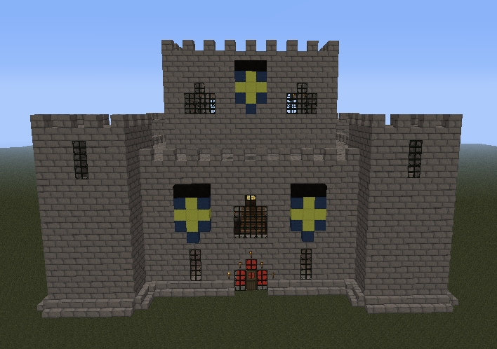 Simple minecraft castle designs the for Small castle designs