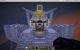 painting the Gundam RX-78-2 Minecraft