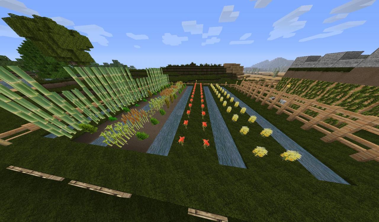 рабочая площадь фермы майнкрафт #7