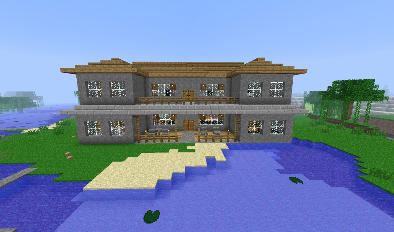 Stone Mansion Minecraft Map