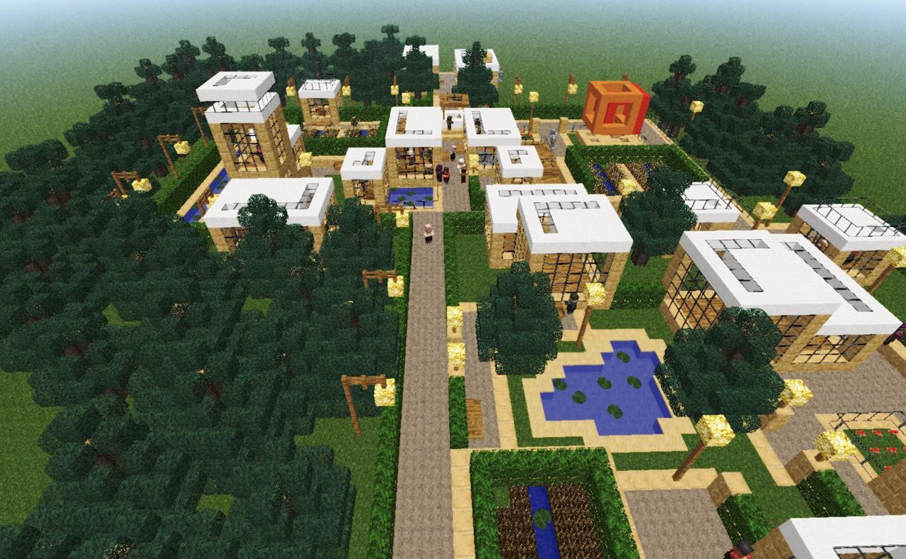 Npc village modern revamp minecraft project