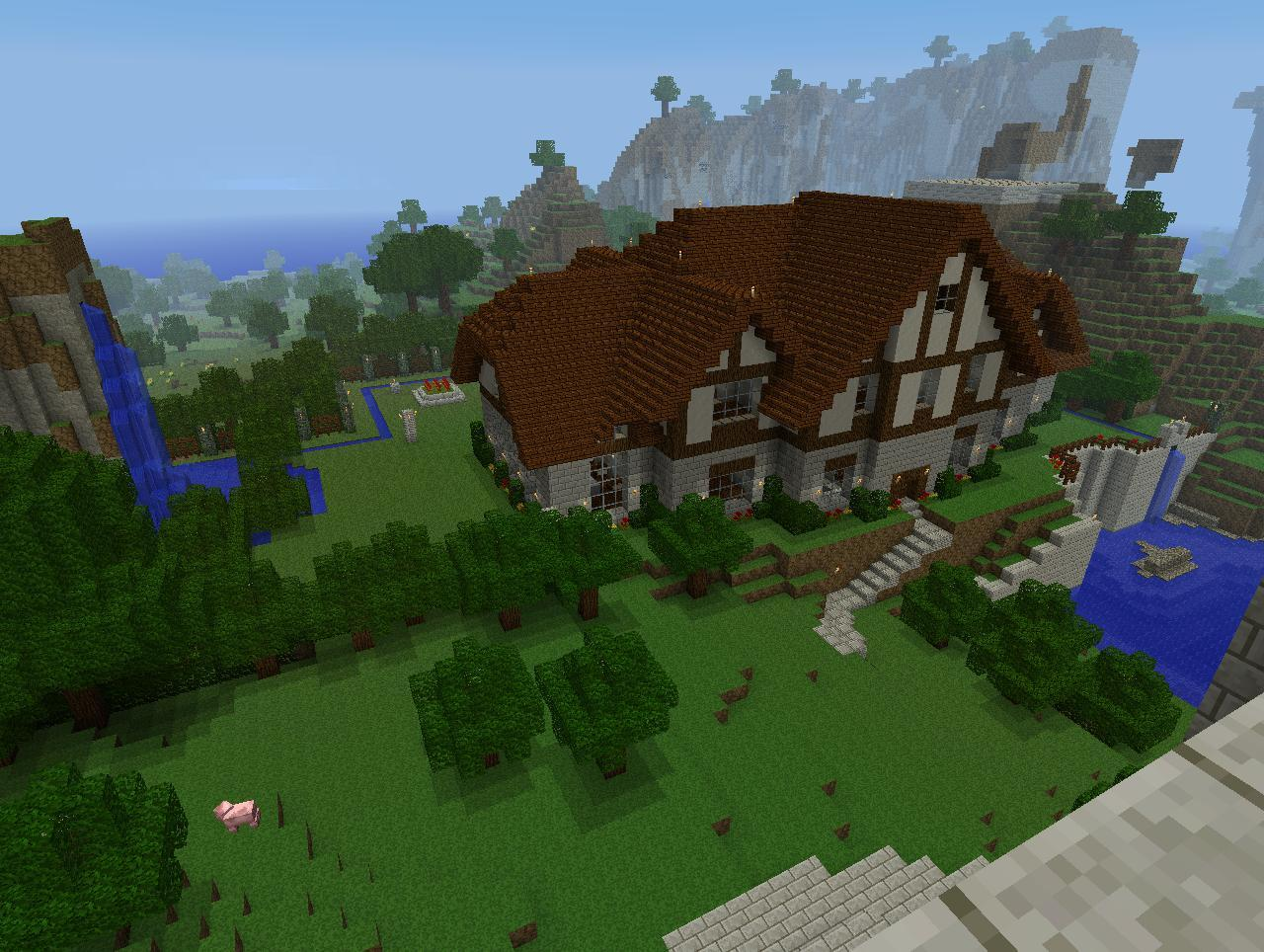 How To Build A Wooden Mansion Minecraft