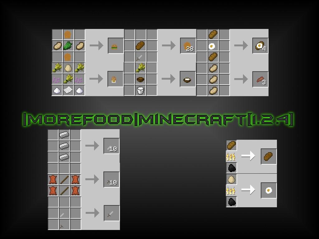 More food minecraft 1 2 4 minecraft mod for Cuisine minecraft