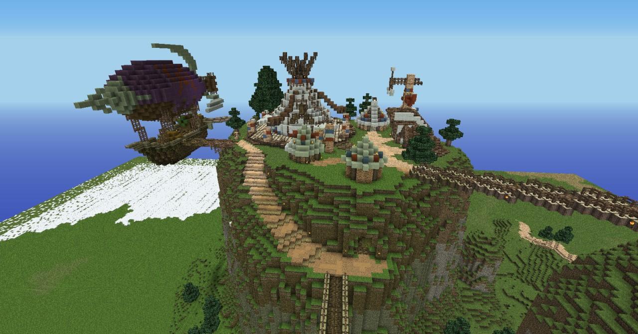 Thunder Bluff World of Warcraft Minecraft Project – Map World of Warcraft Minecraft