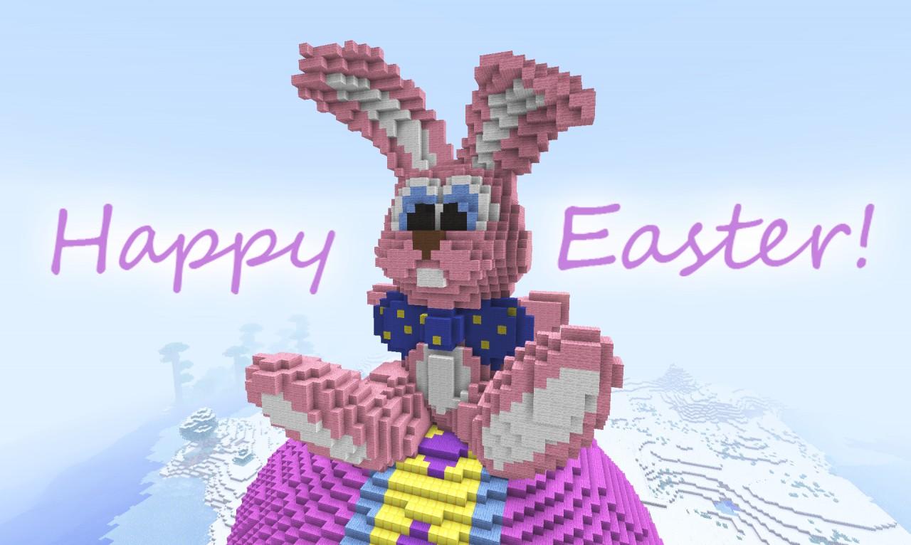 jumbo easter bunny minecraft project