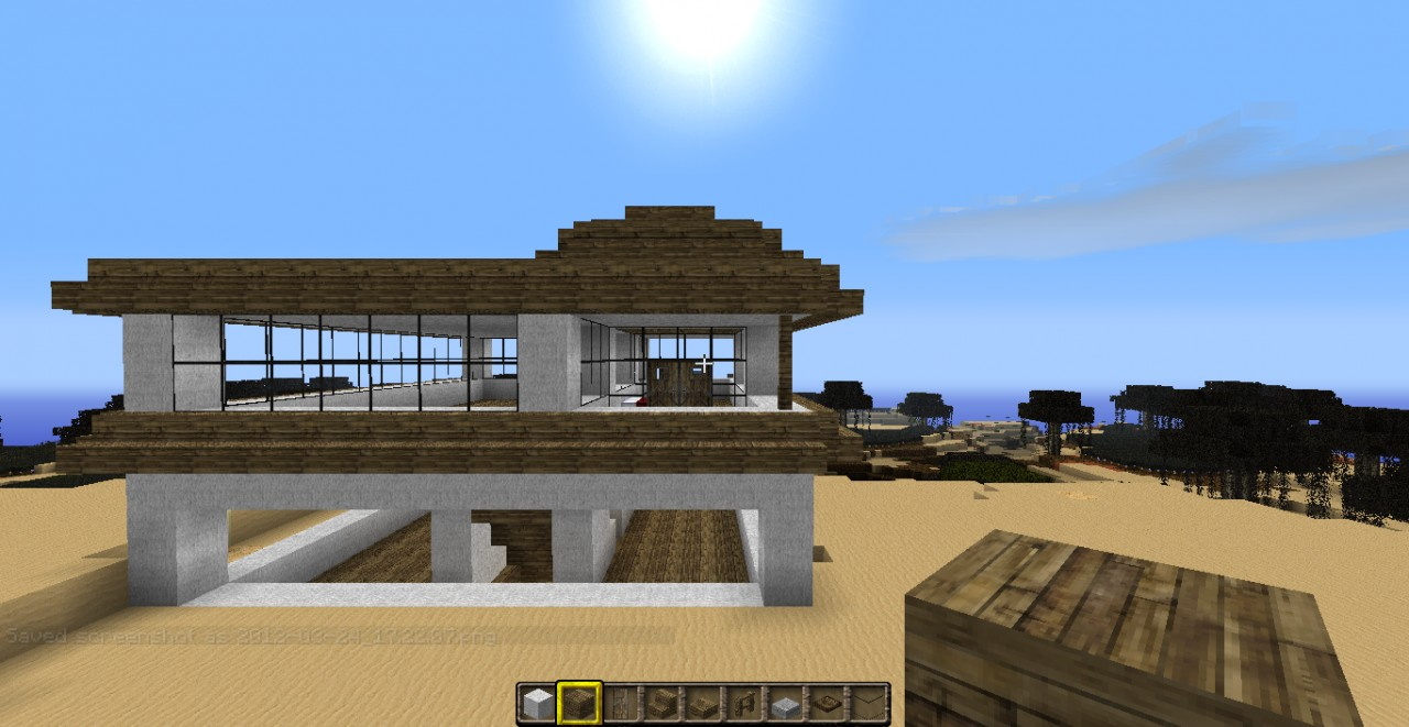 Modern beach house Minecraft Project