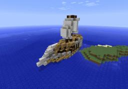 Fantasy boat Minecraft Map & Project