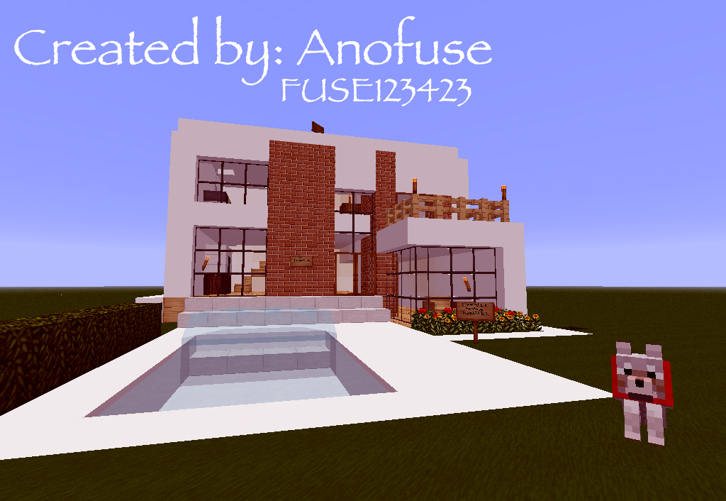 modern house design 2 minecraft project