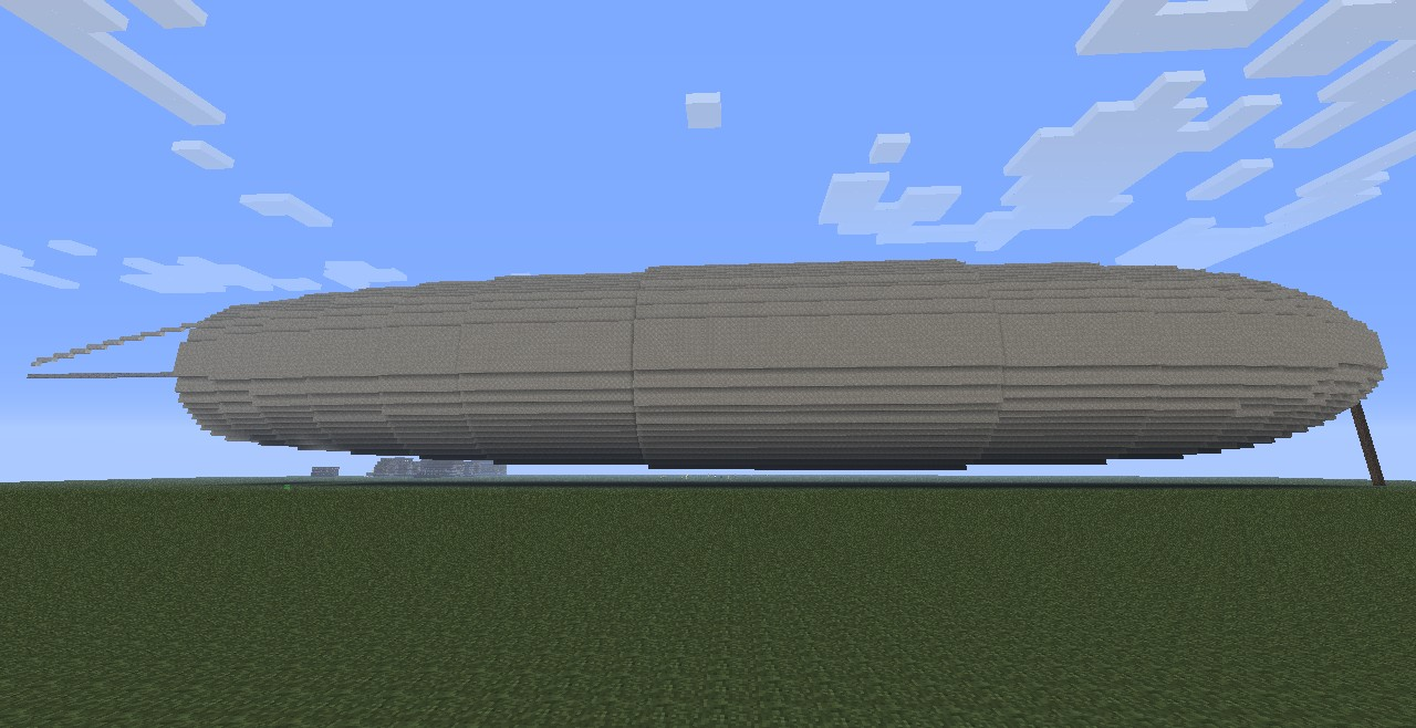 Its almost too large for the render distance. 295 blocks long is not small!