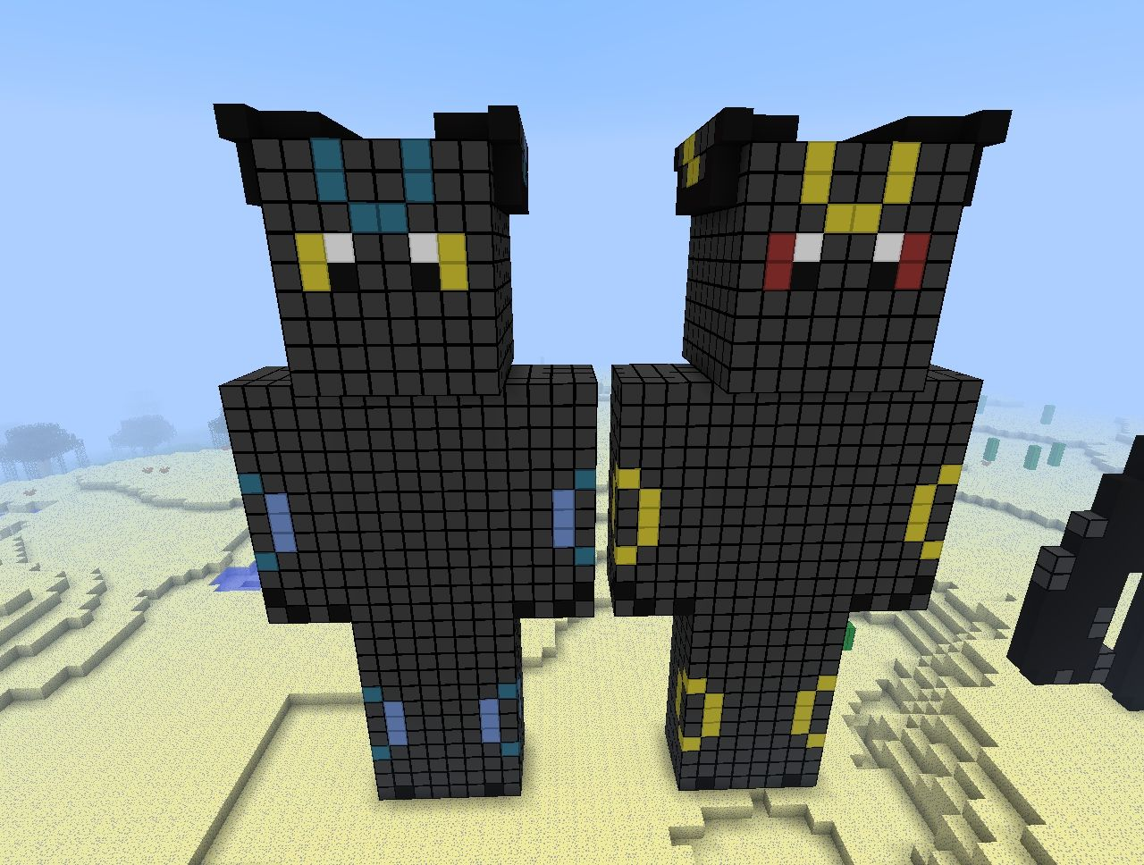 My Shiny and Normal Umbreon Skin Statues Minecraft Map