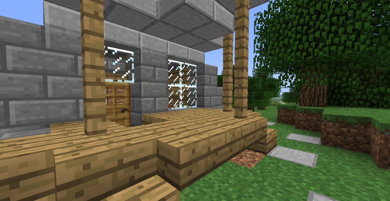Mfn minecraft one room house designs minecraft project for Minecraft exterior wall design