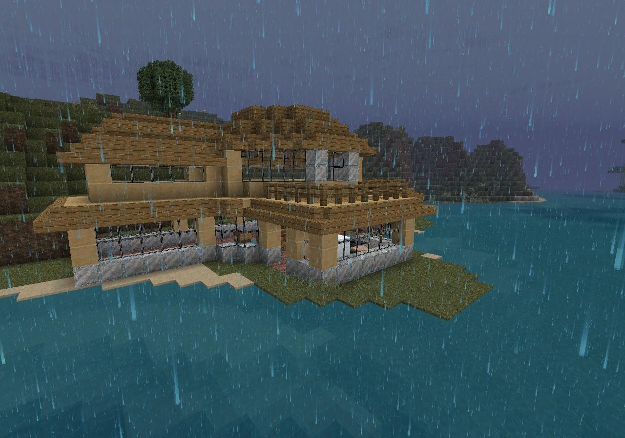 Small Modern Beach House V Survival Minecraft Project - Cool minecraft houses survival