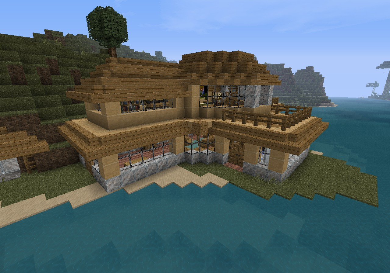 Small Modern Beach House Minecraft 3