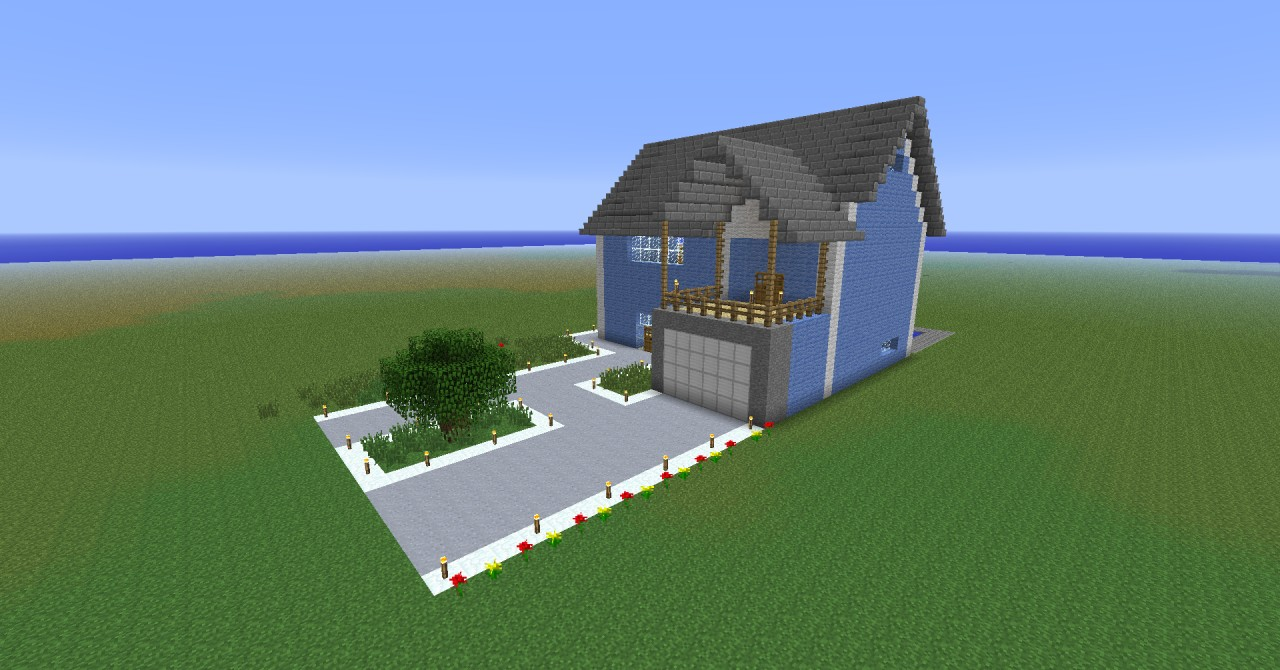 The gallery for minecraft pe beach houses for Beach house designs minecraft