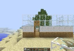 Unfinished modern house with a random tree Minecraft Map & Project